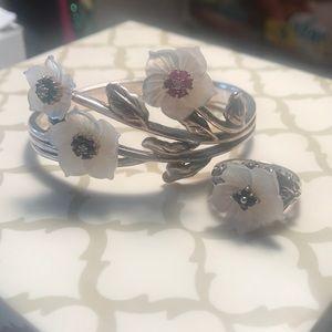 Gemstone & Silver Jewelry Set
